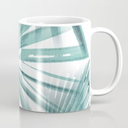 Teal Aqua Tropical Beach Palm Fan Vector Coffee Mug