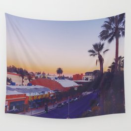 Old Town Twilight Wall Tapestry