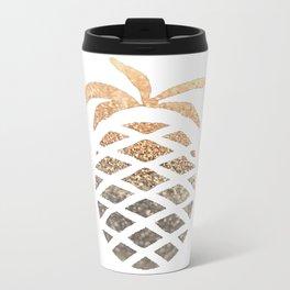 GOLD PINEAPPLE Metal Travel Mug