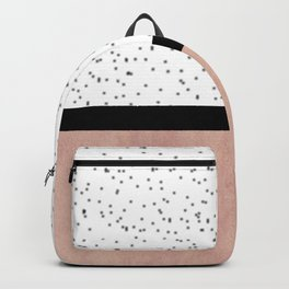 Pink marble and dots Backpack