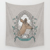 snape Wall Tapestries featuring Severus by Zeke Tucker