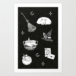 Witch Essential Items Art Print