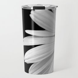 Half Daisy in Black and White Travel Mug
