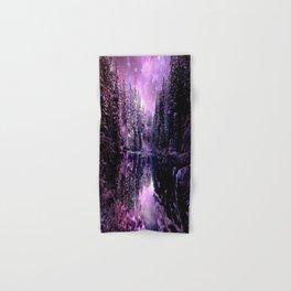 A Cold Winter's Night : Purple Lavender Winter Wonderland Hand & Bath Towel