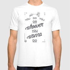 YDYOWYWD SMALL Mens Fitted Tee White
