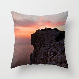 Pink cliff - cala d'Inferno. Throw Pillow