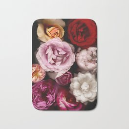 Red, White, Yellow, and Pink Roses Bath Mat