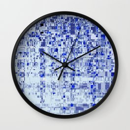 Abstract Architecture Blue Wall Clock