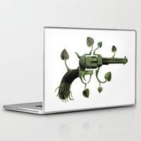 gun Laptop & iPad Skins featuring Gun by mariotarrago