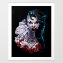 """Marceline  """"shades of red"""" Art Print"""