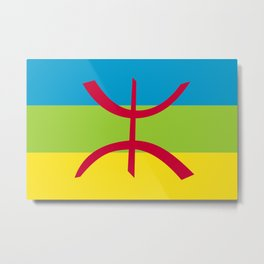 Amazigh flag Metal Print