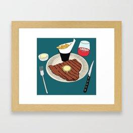 Heart-shaped steak! Framed Art Print