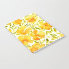 Watercolor California poppies (Quad set, #2) Notebook