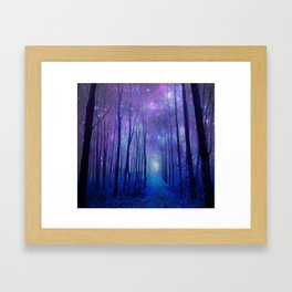 Fantasy Path Purple Blue Framed Art Print