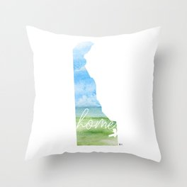 Delaware Home State Throw Pillow