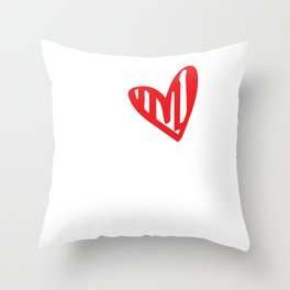 I Love My Crazy Husband Valentines For Lovers Throw Pillow