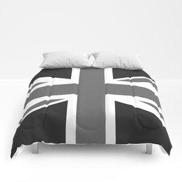 UK Flag, High Quality 1:2 Grayscale Comforters