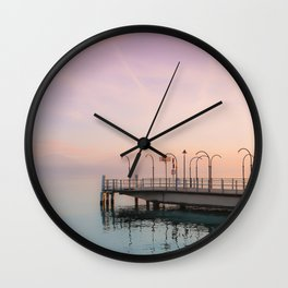 A Suspended Moment In Time Over The Lake Wall Clock