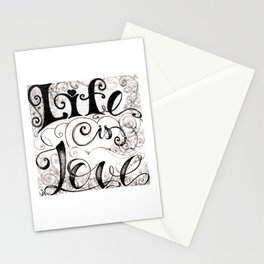 Life is Love Stationery Cards