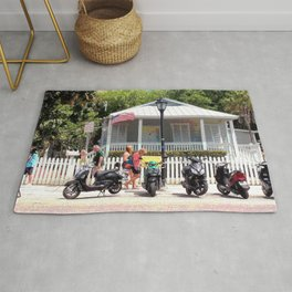 Motor Bikes and Picket Fence Rug