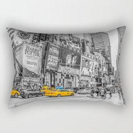 Yellow Taxi's Times Square Rectangular Pillow