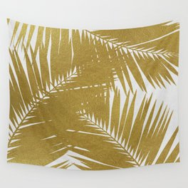 Palm Leaf Gold III Wall Tapestry