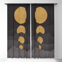 Rise of the golden moon Blackout Curtain