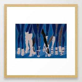 Z!NK Magazine: What is it about women in heels? Framed Art Print