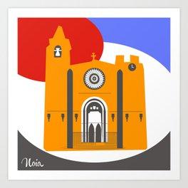 Noia, a beautiful town in Galicia Art Print