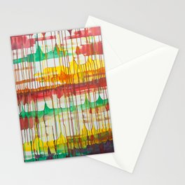 Loose Leaf - Abstract Acrylic painting  Stationery Cards