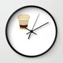 Coffee Anatomy White Chocolate Mocha Barista Coffee Roaster Worker Lover Wall Clock
