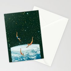 Space jumps Stationery Cards
