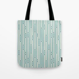Dotted lines in cream, teal and sea foam Tote Bag