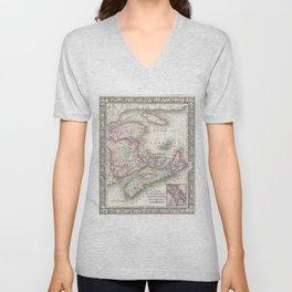 Vintage Nova Scotia and New Brunswick Map (1866) Unisex V-Neck