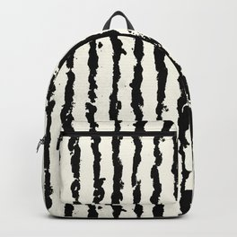 Vertical Ivory Stripes Backpack