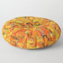 Dandelion Pop-Art by Nico Bielow Floor Pillow
