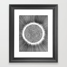 Thousand snakes covering the sun Framed Art Print