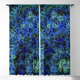 Supernova in blue and geen Blackout Curtain
