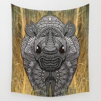ornate Wall Tapestries featuring Ornate Rino by ArtLovePassion