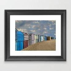 Beach Huts Framed Art Print