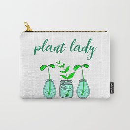 Plant lady. In love with plants. Think green. Be eco. Environmental protection. Ecology. Nature love Carry-All Pouch