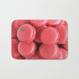 Pink macarons photograph Bath Mat