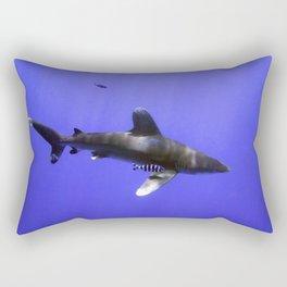 Oceanic Whitetip and Pilot Fish Rectangular Pillow