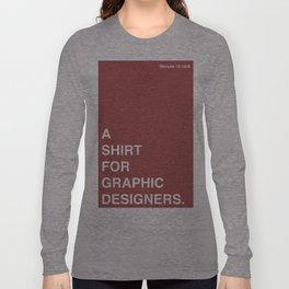 BDFD - Graphic Designer Long Sleeve T-shirt