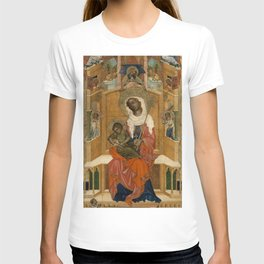 Unknown Artist (Bohemian) - Mary Enthroned with the Child (Glatz Madonna) (1350) T-shirt