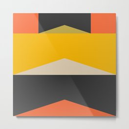 Stackables, Abstract Art Geometric Shapes Metal Print