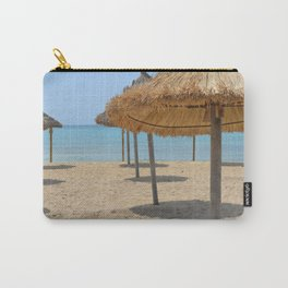 Parasols in a row on a sunny beach Carry-All Pouch