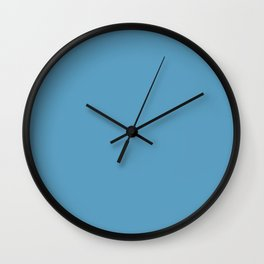 Blissful Tropical Retreat Mid Tone Blue Solid Color Pairs To Sherwin Williams Jacaranda SW 6802 Wall Clock