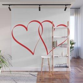 Embracing Hearts Wall Mural