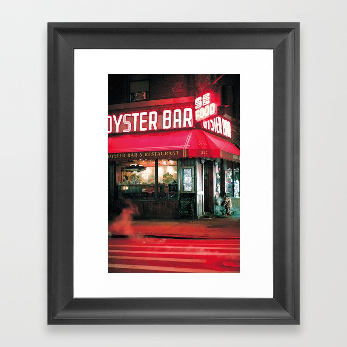 New York Seafood Restaurant Near Times Square Framed Art Print